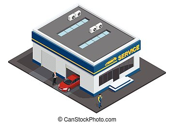 Repair garage, Auto mechanic service, maintenance car repair...
