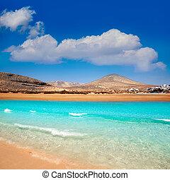 Jandia beach Risco el Paso Fuerteventura at Canary Islands...