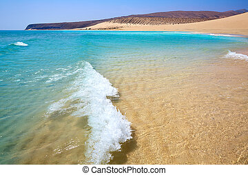 Jandia beach Risco el Paso Fuerteventura at Canary Islands...