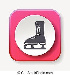 Ice skate icon