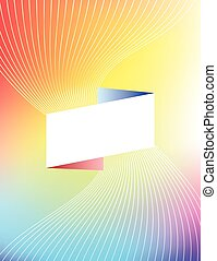Abstract colorful brochure cover