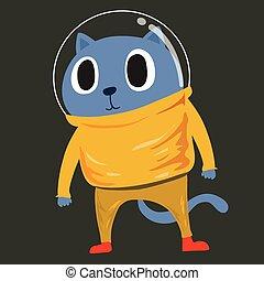Cat in space suit