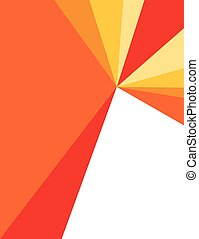 Warm colors corporate flyer - Red, orange and yellow...