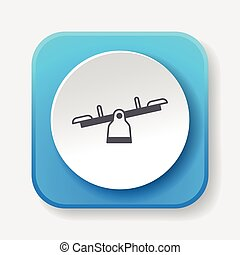 playground seesaw icon