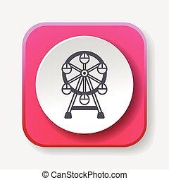 Ferris wheel icon