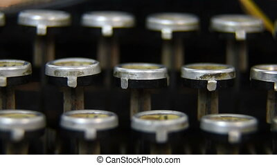 Typewriter Keys - Vintage Typewriter Keys Extra Close Up