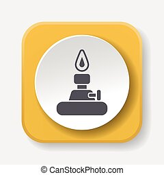 Alcohol lamp icon