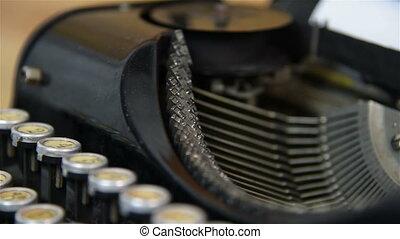 Printing on old typewriter Slow motion effect
