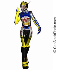 Fantasy Race Suit - 3D Render of an Fantasy Race Suit
