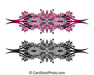 carnival mask - a beautiful two different color carnival...