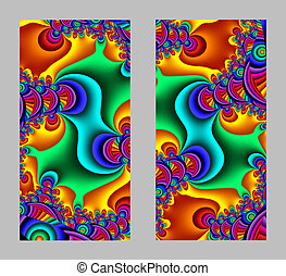 Mobile phone cover back with beautiful Pattern in fractal...