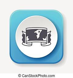 treasure map icon