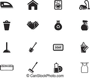 Cleaning service simply icons - Cleaning service simply...