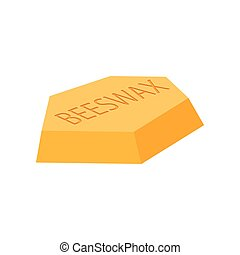 Beeswax cartoon icon on a white background