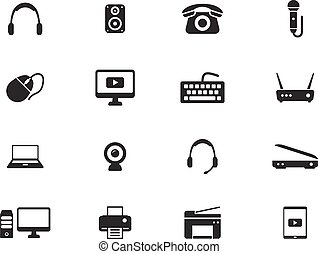 Devices simply icons - Devices simply symbols for web and...