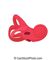 Inner ear cartoon icon on a white background