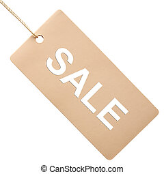 White paper tag isolated