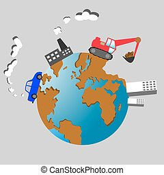 Planet Earth vector illustration. Ecological concept