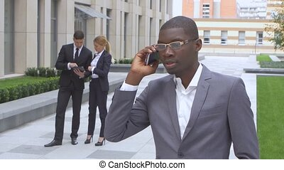 success multiracial Businesspeople. African American...