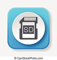 camera SD card icon