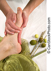 wellness composition - foot sole massage - a wellness...