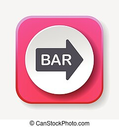 Bar shop sign icon