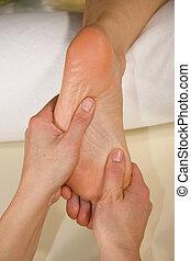 foot reflex zone massage
