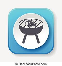 frying fish icon