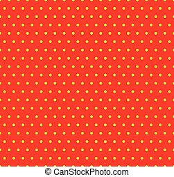 Dotted yellow and red pop art pattern. Seamlessly repeatable...