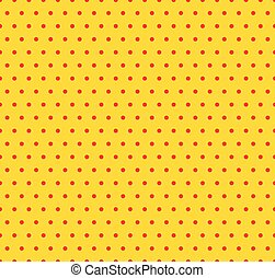 Dotted yellow and red pop art pattern Seamlessly repeatable...