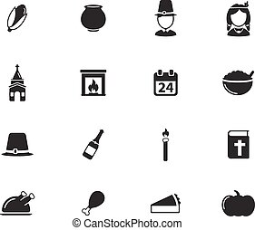 Thanksgiving simply icons for web and user interface