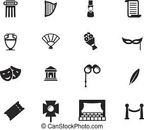Theatre simply icons - Theatre simply symbols for web and...