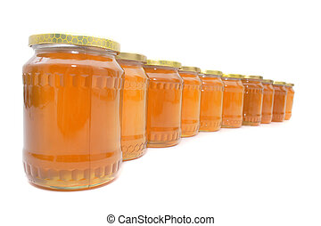 honey - fresh honey isolated on the white background