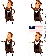 Set of Lincoln presidents - Vector image of a Set of Lincoln...