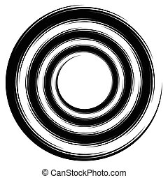 Abstract spiral, swirl, twirl element Editable vector...