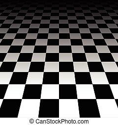 Vanishing checkered surface 3d surface in perspective Vector...