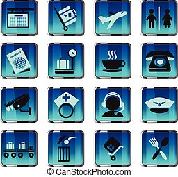Airport icons - Airport vector icon for web and user...
