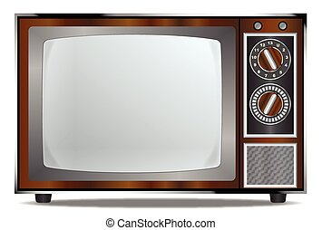 Old Television Set - An old wood surround television...
