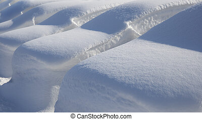 Cars Under Deep Snow - Many parked cars under deep snow...