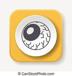 halloween eyeballs icon