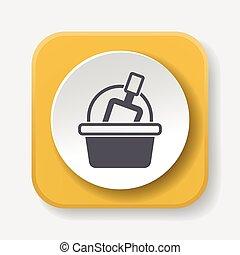 toy sand bucket icon