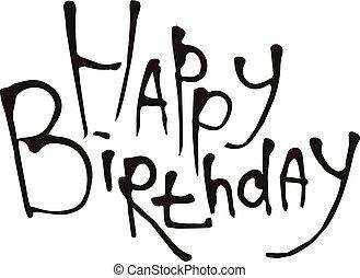 Happy Birthday calligraphy vector