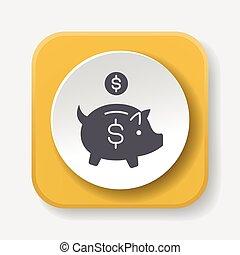 financial piggybank icon