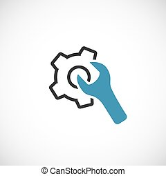 Maintenance icon. - Icon technical support and assistance in...