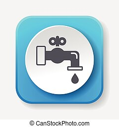 Environmental protection concept conserve water icon
