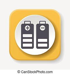 Environmental protection concept battery icon