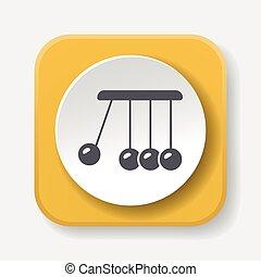 Newton cradle icon