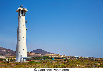 Morro Jable Matorral lighthouse Jandia Fuerteventura - Morro...