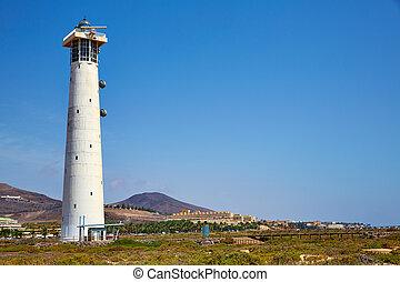 Morro Jable Matorral lighthouse Jandia Fuerteventura - Morro...