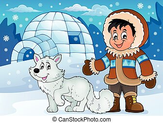 Arctic theme image 1 - eps10 vector illustration